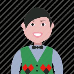 account, avatar, boy, man, people, person, profile, staff icon