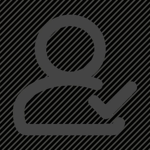 admin, administrator, check, person, profile, user, users icon