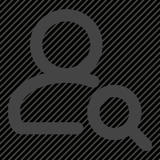 admin, administrator, person, profile, search, user, users icon