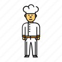 chef, cook, culinary, man, restourant icon