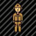 fire, firefighter, fireman, man, saver