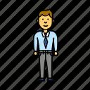 business, office, worker, enterprenier, user, man icon