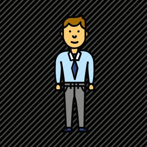 business, enterprenier, man, office, user, worker icon