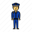guard, man, officer, police, policeman icon