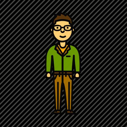 boy, business, glass, man, scientist, user icon