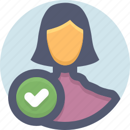access granted, allow, complete the profile, confirm, user icon