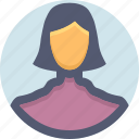 avatar, female, girl, person, user, woman icon
