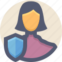 guard, personal data, profile, shield, user icon