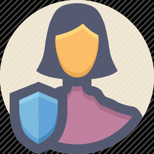guard, personal data, profile, shield, user icon