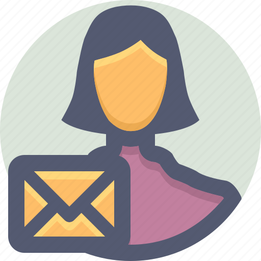 comment, contacts, feedback, send, text, woman icon