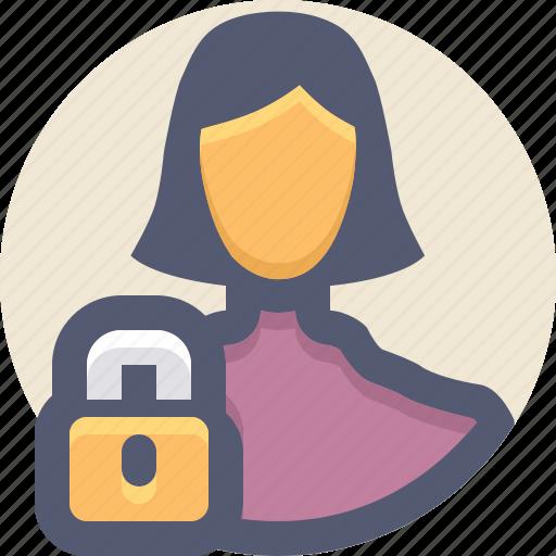 block, denied, lock, private, user icon