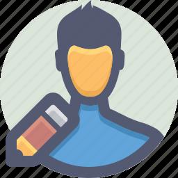 account, avatar, edit, holder, profile icon