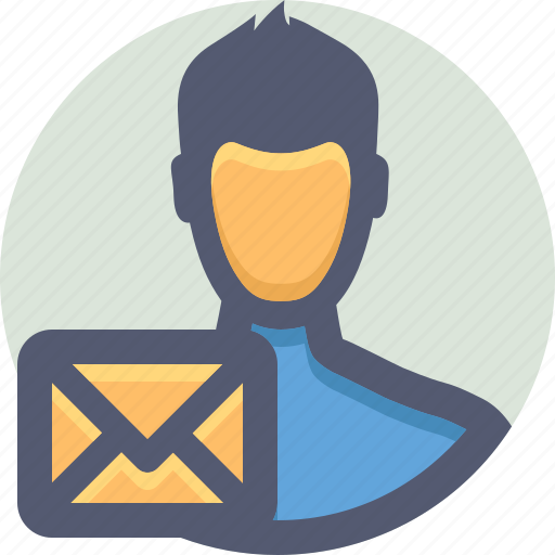 account, email, message, send icon