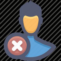 block, block account, block user, invalid account, remove, remove members, user icon