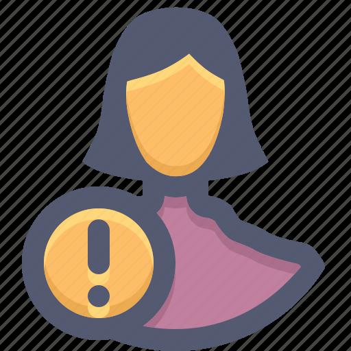 account, different, helper, invalid account, login error, user, woman icon