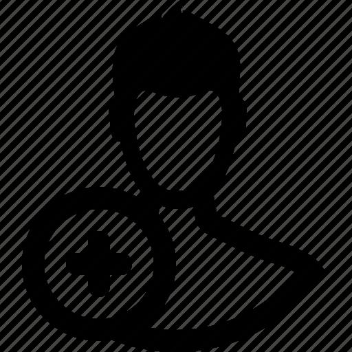 account, add, friend, member, person, plus, user icon