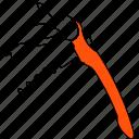 bar, cork, line, restaurant, thin, tool, utensil icon