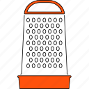 cooking, grater, kitchen, kitchenware, line, thin, tool icon