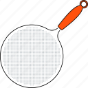 colander, food, kitchen, line, thin, tool, utensil icon