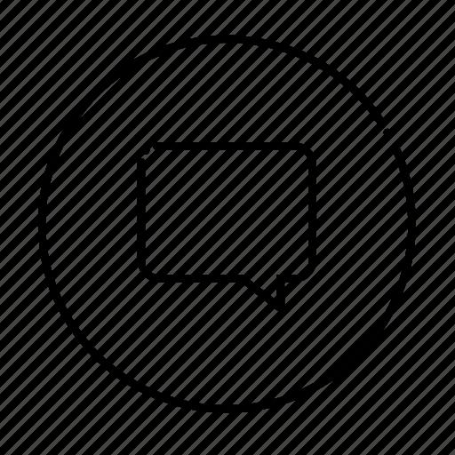 convrsation, hi, inbox, message, new icon