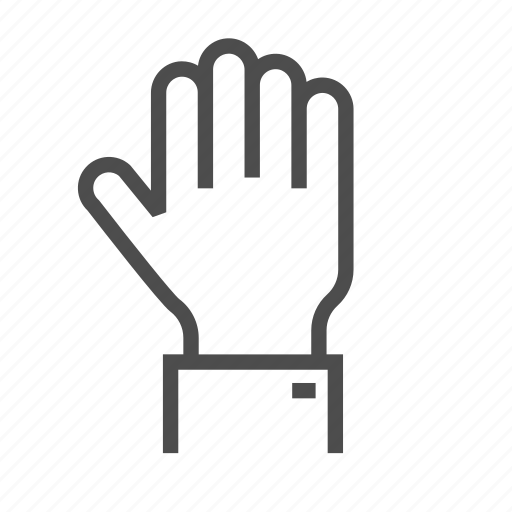 abort, alert, business, gestures, hand, social, up icon
