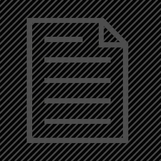 document, draft, file, note, paper, report, script icon