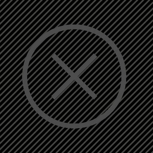 Cancel, close, delete, denied, discard, dismiss, remove icon - Download on Iconfinder