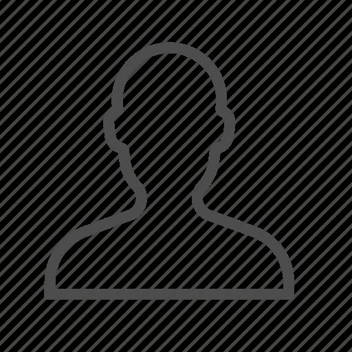 account, avatar, contact, male, portrait, profile, user icon