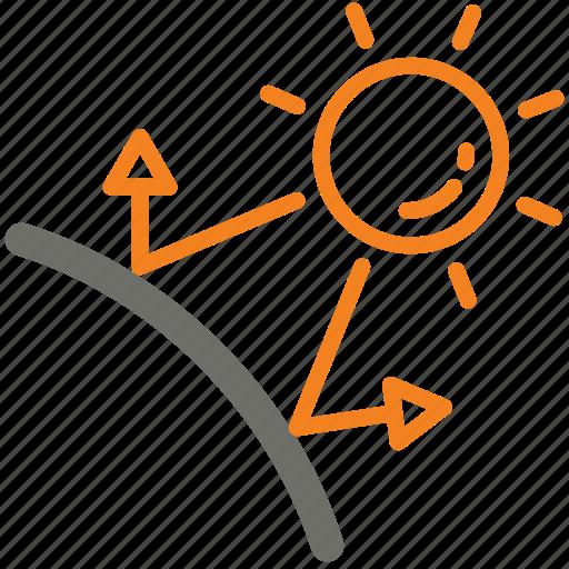 day, protection, reflection, sun, sunblock, uv icon