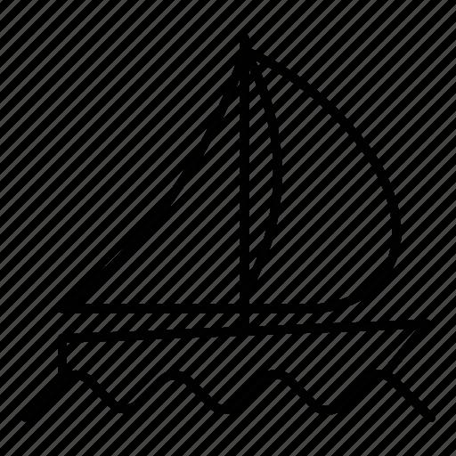 cruise, sailboat, summer, travel icon
