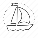 boat, sailing, sea, ship, yacht icon