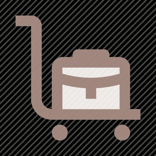 bag, baggage, luggage, suitcase, transportation, travel, trolley icon