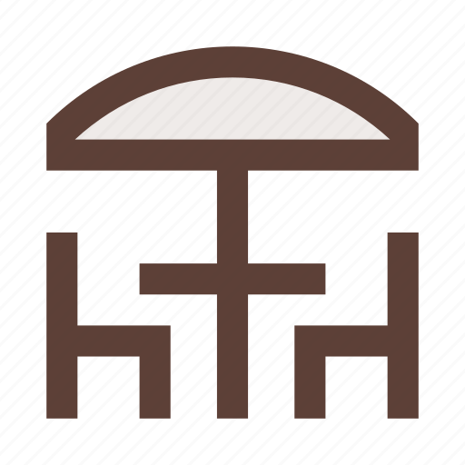 bistro, cafe, canopy, chairs, furniture, open, table icon
