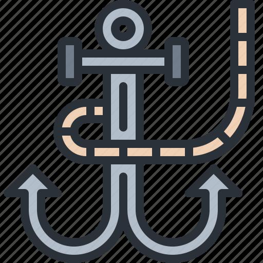 anchor, cruise, sea, ship, travel, vacation icon