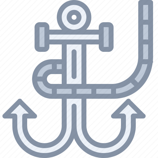 anchor, cruise, sea, ship, travel, vacation icon