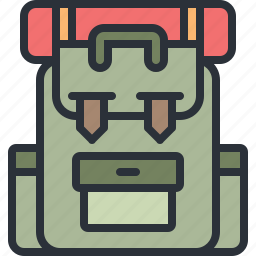 backpack, camping, outdoors, travel, vacation icon
