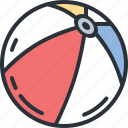 ball, beach, game, play, travel, vacation icon