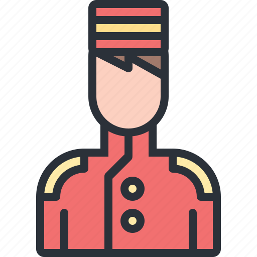 bellboy, hotel, luggage, travel, vacation icon