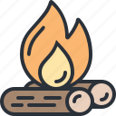 camp, fire, outdoors, travel, vacation icon