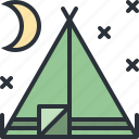 camp, outdoors, tent, travel, vacation icon
