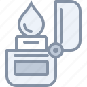 camp, camping, fire, lighter, outdoors, travel, vacation icon