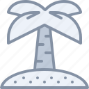 beach, exotic, island, palm, travel, tree, vacation icon