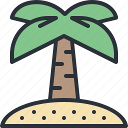 exotic, island, palm, travel, tree, vacation icon