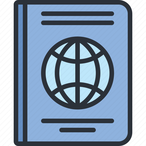 document, international, passport, travel, vacation icon