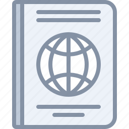 airport, document, international, passport, travel, vacation icon