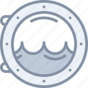 porthole, sea, ship, travel, vacation icon