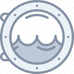 porthole, sea, ship, travel, vacation icon