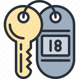 hotel, key, room, security, travel, vacation icon