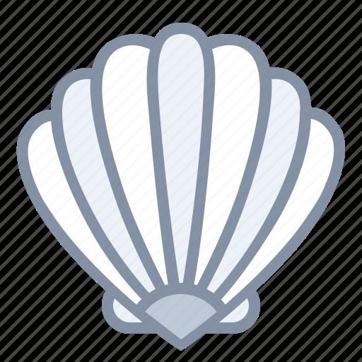beach, sea, seashell, travel, vacation icon
