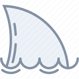 beach, fish, sea, shark, travel, vacation icon